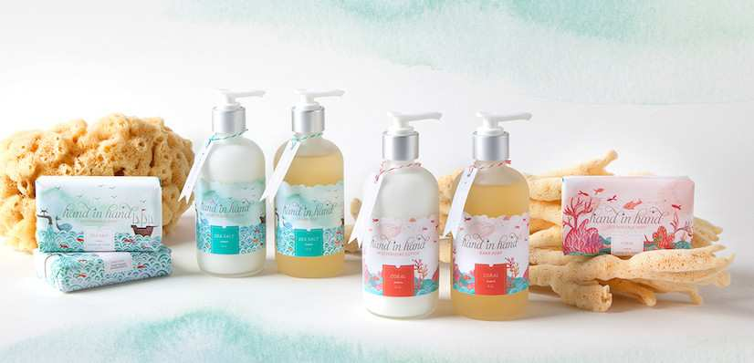 Hand in hand soap. Giving back
