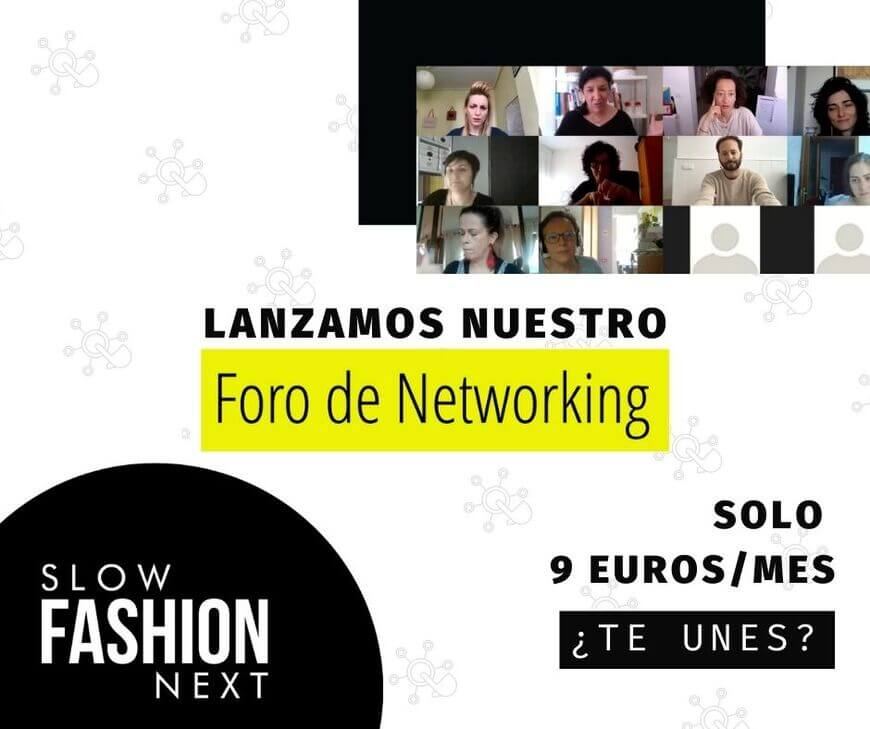 Banner Lanzamiento Foro de Networking Slow Fashion Next